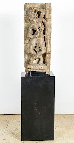 12th C. Indian Stone Sculpture of a Dancing Aspara