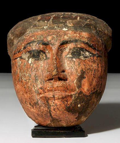 Ancient Egyptian Sarcophagus Mask (1000-400 BCE)