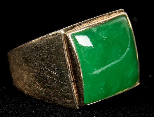 14 Kt. Gold and Jadeite Ring