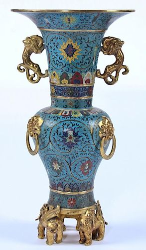 Outstanding Antique Chinese Cloisonne Vase