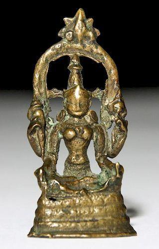 Bronze Buddha Statue, Pala Period (11/12th C)