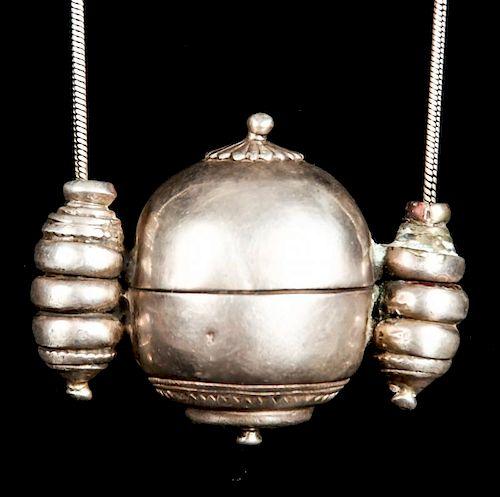 Antique 19th c. Silver Lingam, Rajahstan, India
