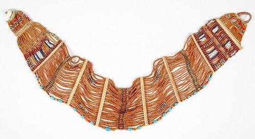 Antique Konyak Naga Glass Bead Belt