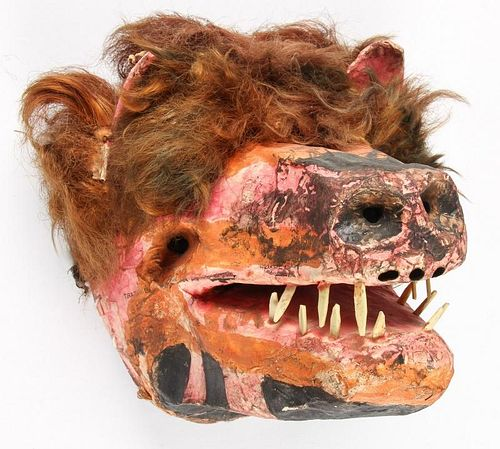 Vintage Mexican Mask, Cora People, Nayarit State
