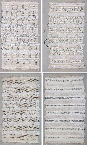 4 Traditional Moroccan Wedding Blankets (Handira)
