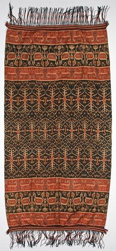 "Indonesian Sumba Ikat: 46"" x 85"" (117 x 216 cm)"
