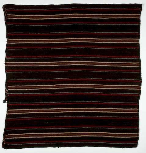 Striped Yak Wool Blanket, Western Tibet