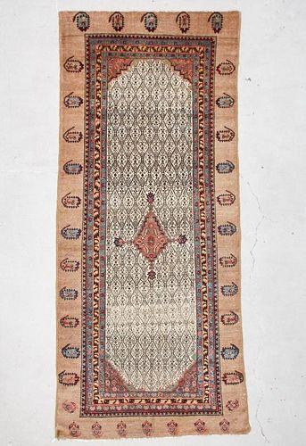 """Antique West Persian Serab Rug: 4'9"""" x 10'11"""" (145 x 333 cm)"""