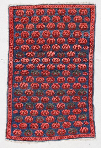 "Antique Kuba Rug: 3'3"" x 5' (99 x 153 cm)"