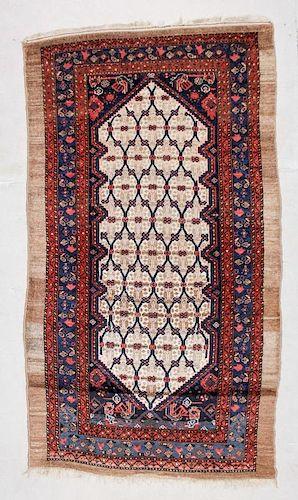 """Antique West Persian Serab Rug: 4'5"""" x 7'5"""" (135 x 226 cm)"""