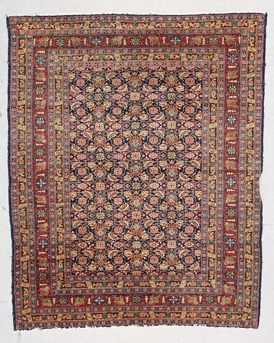 "Antique Senneh Kurd Rug: 4'10"" x 5'11"" (147 x 180 cm)"