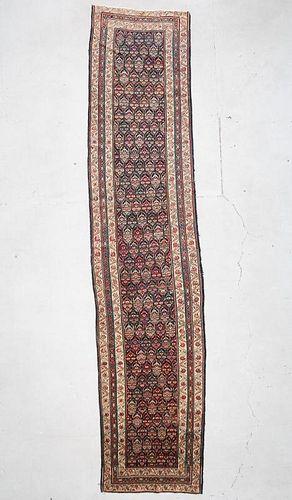"""Antique Caucasian Rug: 3'4"""" x 14'10"""" (102 x 452 cm)"""