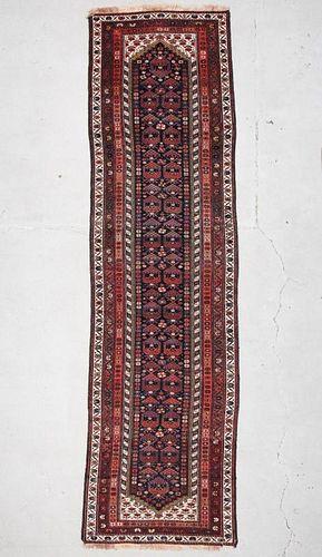"""Antique Karabagh Rug: 3'5"""" x 12'4"""" (104 x 376 cm)"""