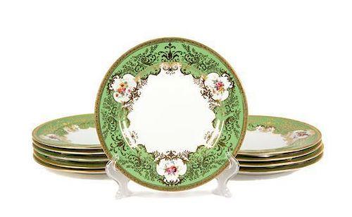 A Set of Ten Coalport Porcelain Cabinet Plates Diameter 8 5/8 inches.