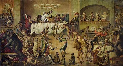 William Spilsbury, (English, 19th/20th century), Monkeys' Banquet