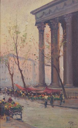 Picot, (French, 20th century), Parisian Street Scene
