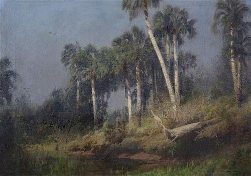 Hermann Ottomar Herzog, (American, 1832-1932), Florida Landscape
