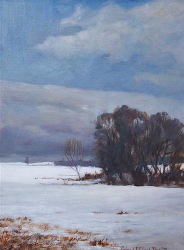 Richard Michael Tibrieu, (American, 20th Century), Winter Landscape, 1978