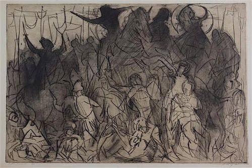 Artist Unknown, (20th century), Battle Scene, 1961