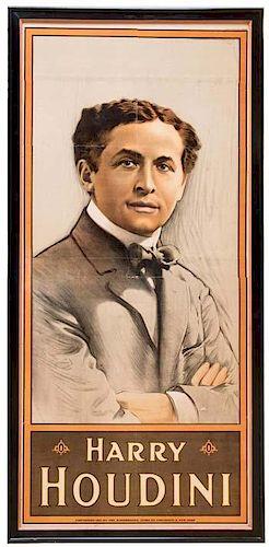 Houdini, Harry. Harry Houdini. Cincinnati: The Strobridge Litho. Co., ca. 1912. Iconic and handsome