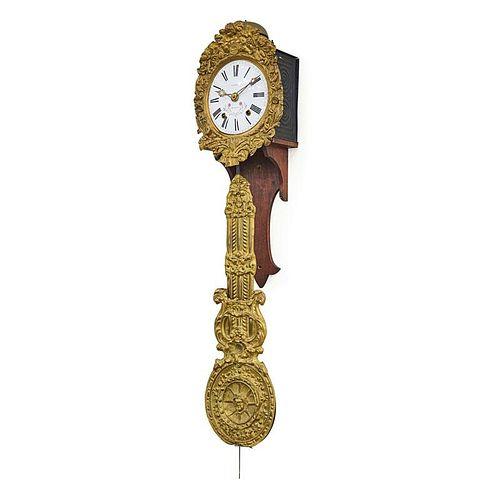 CONTINENTAL BRASS HANGING CLOCK