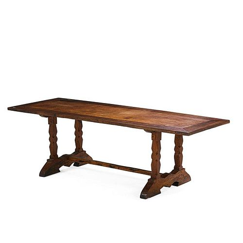 COLONIAL HARDWOOD TRESTLE TABLE