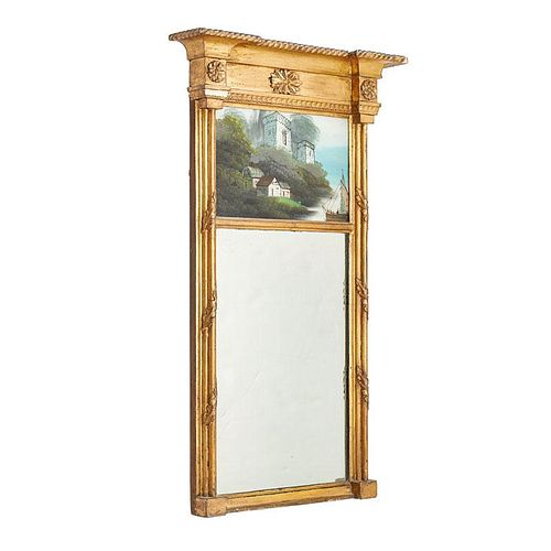 FEDERAL GILTWOOD AND EGLOMISE PIER MIRROR