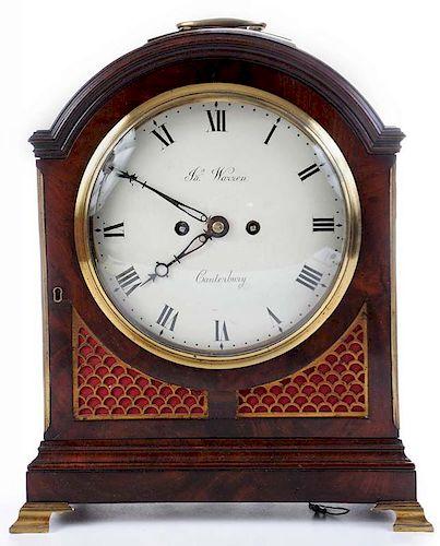 James Warren Mahogany Verge Bracket Clock