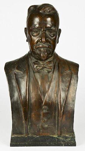 Elie Nadelman (Polish/American, 1882-1946) Bronze Bust