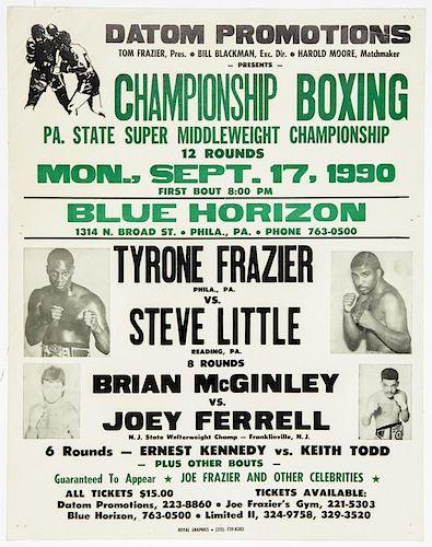 Vintage 1990 Blue Horizon Boxing Poster
