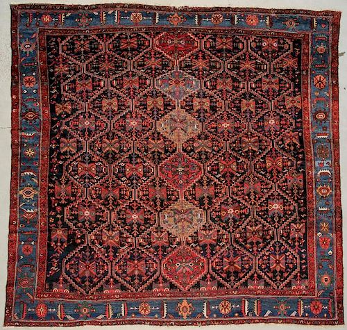 """Antique Bahktiari Rug: 13'11"""" x 13' (424 x 396 cm)"""