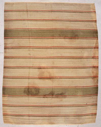 """Fine Vintage Wool Dhurrie: 9'3"""" x 12'0"""" (282 x 366 cm)"""