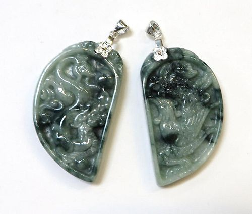 Two Carved Jade Pendants