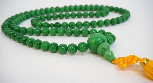 Green Jade Mala