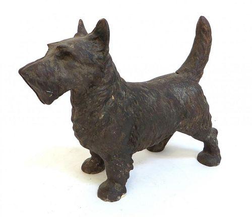 Cast Iron Scotty Terrier Doorstop