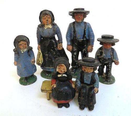 Cast Iron Amish Figures