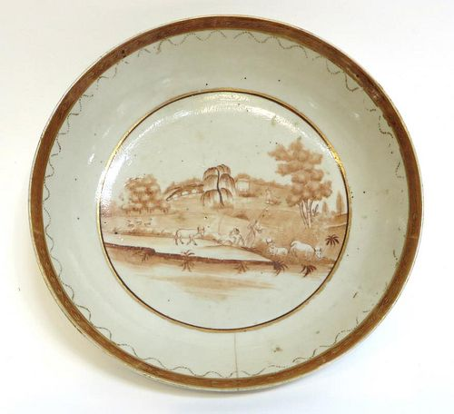 Early 19th Century French Or English Porcelain Bowl