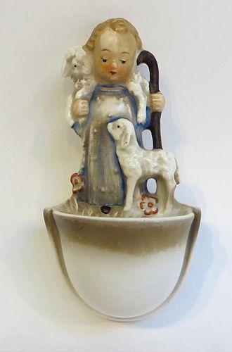 "Hummel Figurine: ""Shepherd Holy Water"""
