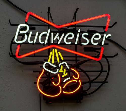 Blue Horizon Budweiser Branded Concessions Stand Neon Sign