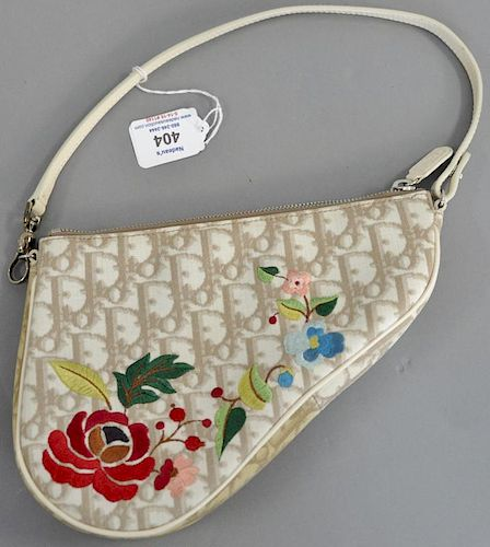 583cda815c Christian Dior Limited Edition saddle bag with embroidered flowers ...