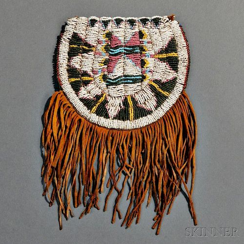 Ute Beaded Hide Pouch