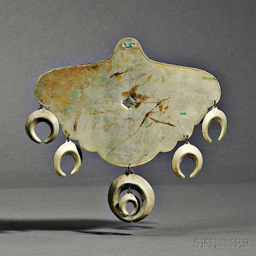 Southern Plains German Silver Pectoral