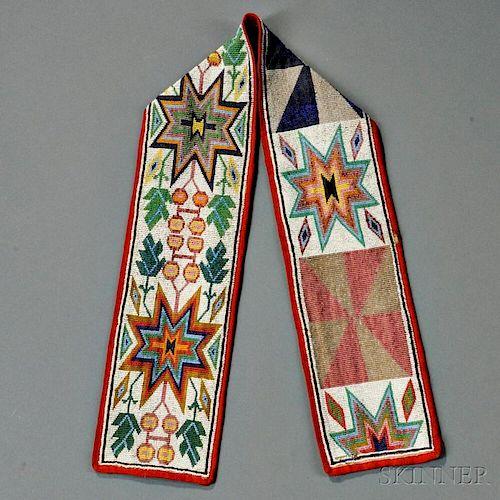 Great Lakes Loom-beaded Cloth Strip
