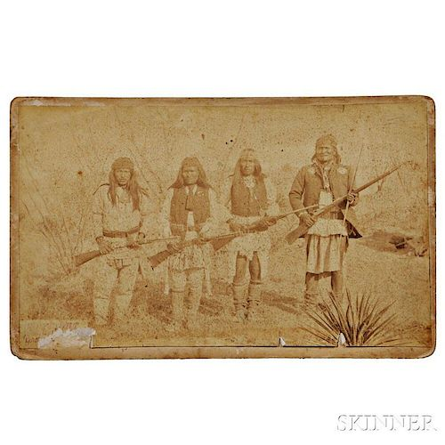 C.S. Fly Photograph of Geronimo, Son, and Two Picked Braves