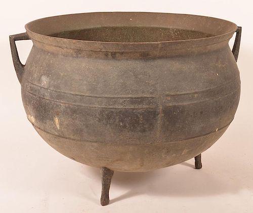 Antique 30 Gallon Cast Iron Gypsy Kettle.