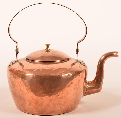 PA Early 19th Century Copper Tea Kettle.