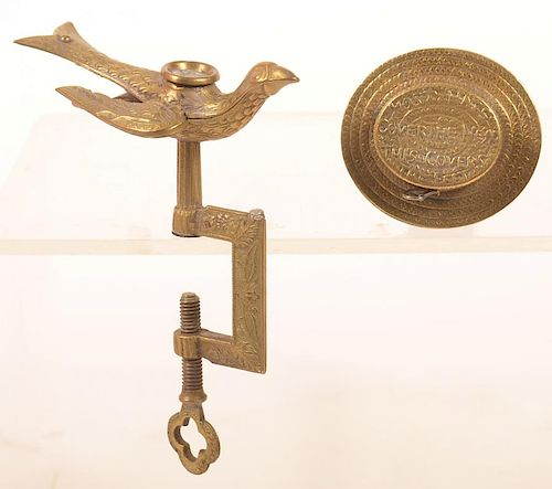 Two Brass Sewing Related Items.