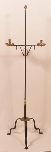 John AlGood Wrought Iron Floor Candle stand.
