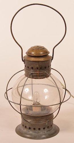 Antique Tin Onion Lantern.