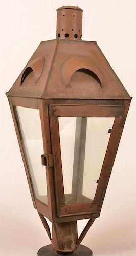 19th Century Tin Post Lantern.